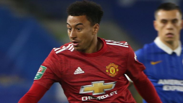 Jesse Lingard has made just two EFL Cup appearances for Manchester United this season