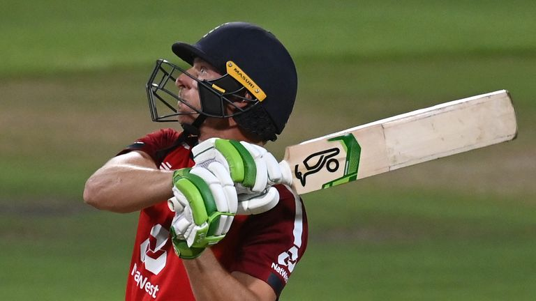 Jos Buttler smashed a 34-ball half-century for England in the third T20I against South Africa at Newlands