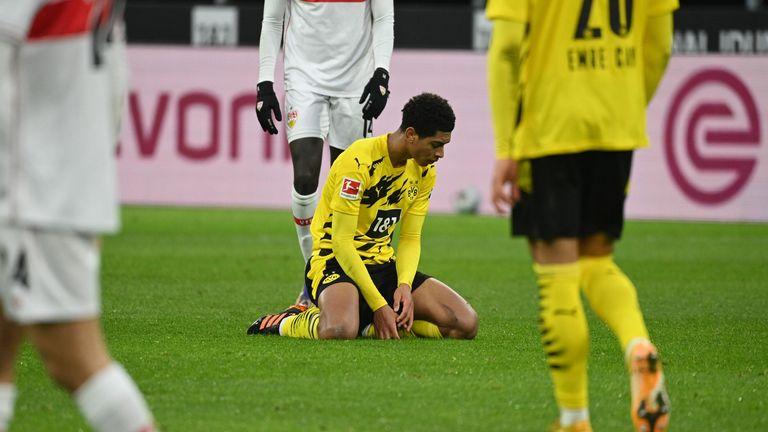Jude Bellingham reacciona en la derrota en casa por 5-1 ante el Stuttgart