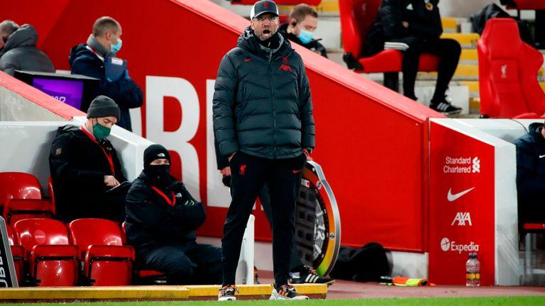 Jurgen Klopp wearing Rainbow Laces, Liverpool vs Wolves, Premier League