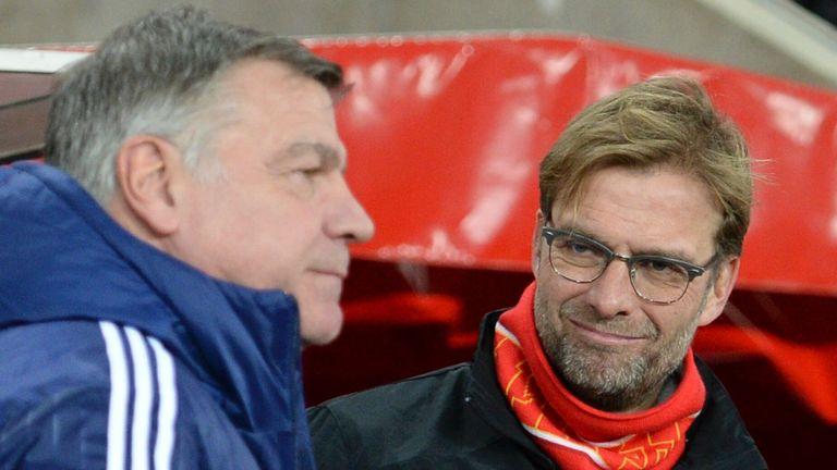 Sam Allardyce will come up against Jurgen Klopp on Sunday