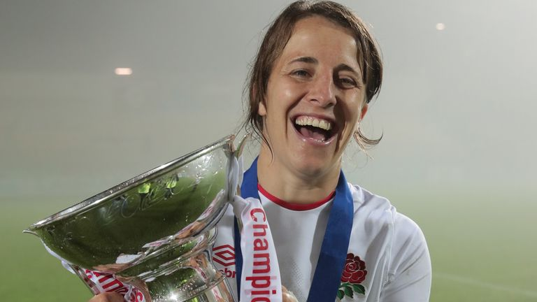 Katy Daley-Mclean won her eighth Six Nations Grand Slam title this year