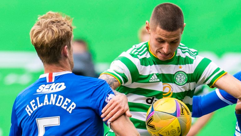 Celtic's Patryk Klimala (Poland) and Rangers' Filip Helander (Sweden) are from EU countries