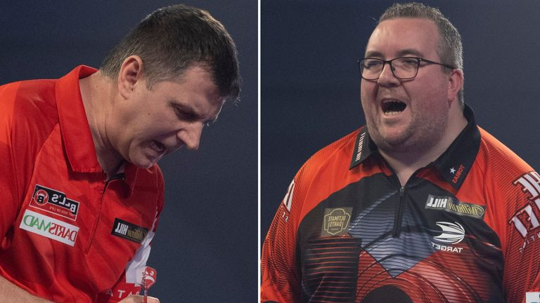 Krzysztof Ratajski takes on Stephen Bunting in the first quarter-final of the day