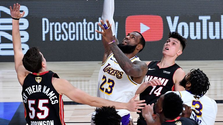 LeBron James helped the Los Angeles Lakers to glory in the NBA finals