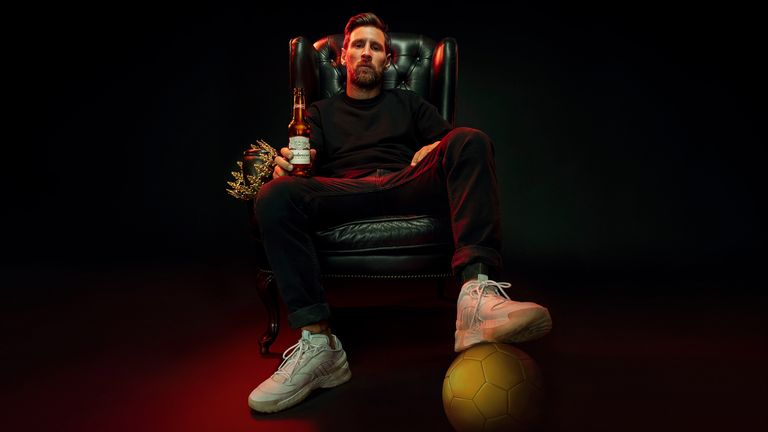 HOLD FOR PRESS RELEASE: Lionel Messi promoting Budweiser