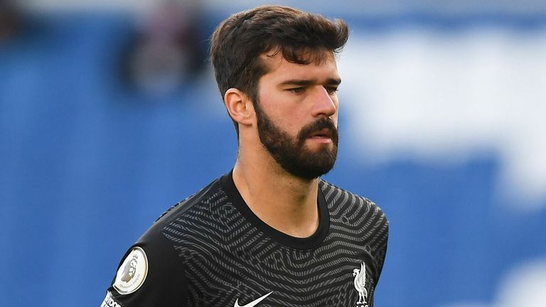 Liverpool goalkeeper Alisson was left out of the side to face Ajax due to a tight leg muscle