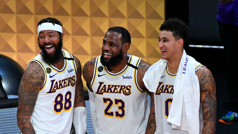 The Los Angeles Lakers are the reigning champions
