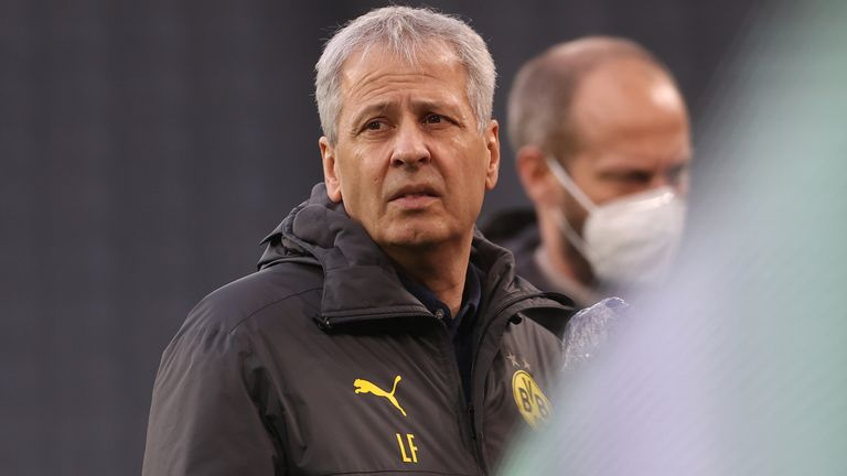 Lucien Favre's contract was due to expire at the end of the season