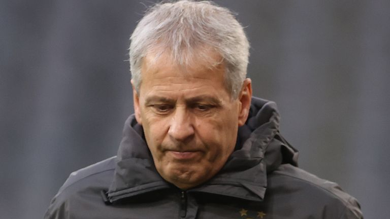 Lucien Favre took charge at Borussia Dortmund in July 2018 after leaving Nice