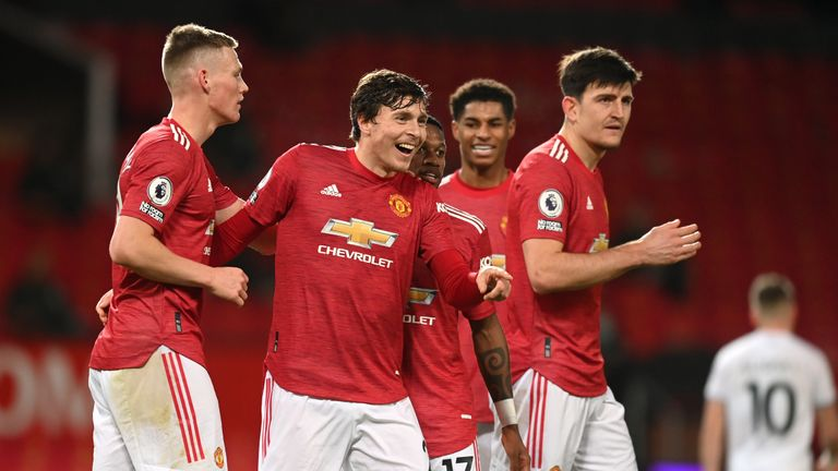 Manchester United thrashed Leeds at Old Trafford