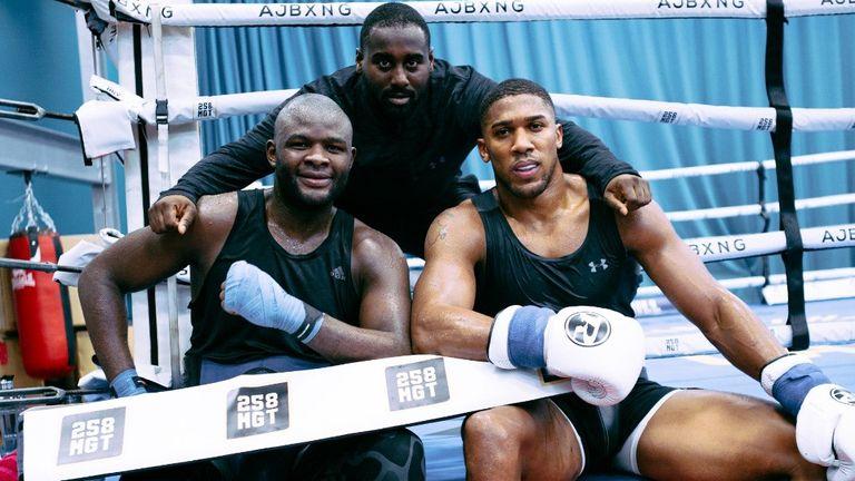 Martin Bakole, David Ghansa and Anthony Joshua