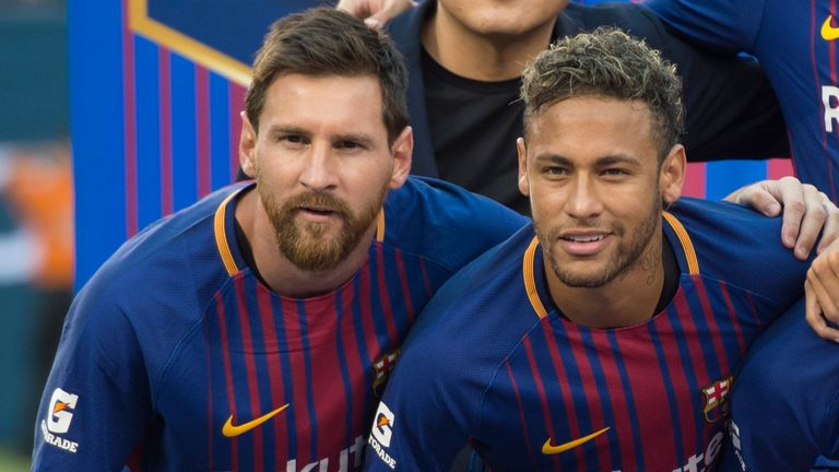 Neymar left Barcelona in 2017 and has suggested he would like former team-mate Lionel Messi to join him at PSG