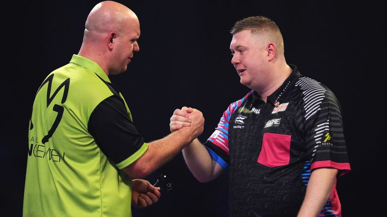 Van Gerwen faces Ricky Evans in a repeat of their third-round match last year, which the Dutch ace won 4-0