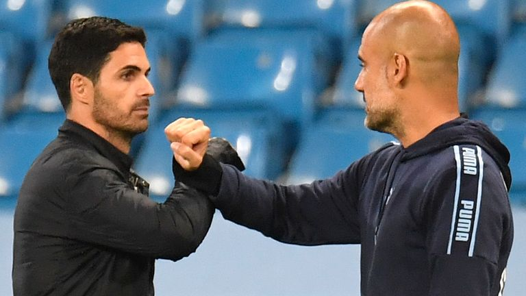 Mikel Arteta says he has maintained a strong relationship with Pep Guardiola
