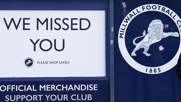 Millwall fans are attending a home game for the first time since the coronavirus pandemic began