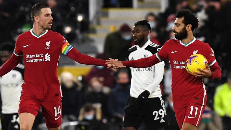 Mohamed Salah's penalty earned Liverpool a 1-1 draw