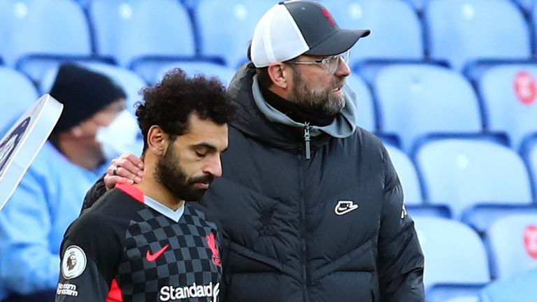 Mohamed Salah scored twice as a substitute in Liverpool's 7-0 win at Crystal Palace on Saturday