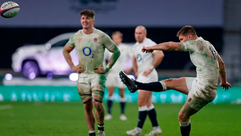 Owen Farrell kicked the winning penalty in extra-time
