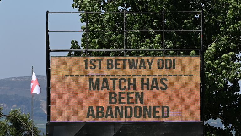 South Africa's first ODI against England has been abandoned after two hotel staff tested positive for coronavirus