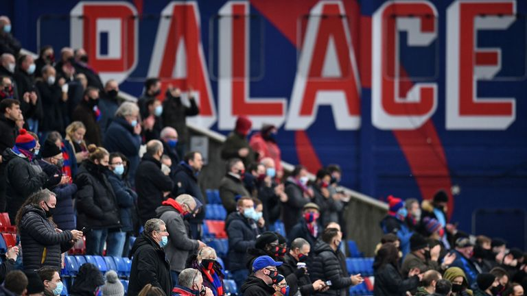 Palace welcomed home fans back to Selhurst Park for the first time since March
