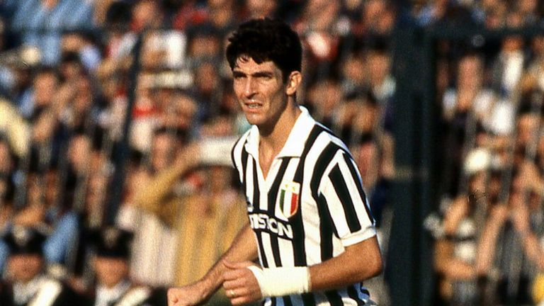 Paolo Rossi in action for Juventus in the 1981/82 season