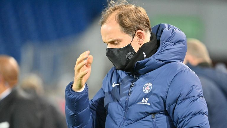 Pelatih Paris Saint-Germain Jerman Thomas Tuchel akan ambil bagian dalam pertandingan sepak bola L1 Prancis antara Montpellier Herald (MHSC) dan Paris Saint-Germain (PSG) pada 05 Desember 2020 di Motion Stadium di Montpellier, Prancis selatan. Datang.  Pascal Coyote / AFP Photo) (Pascal Coyote / AFP Photo via Getty Images)