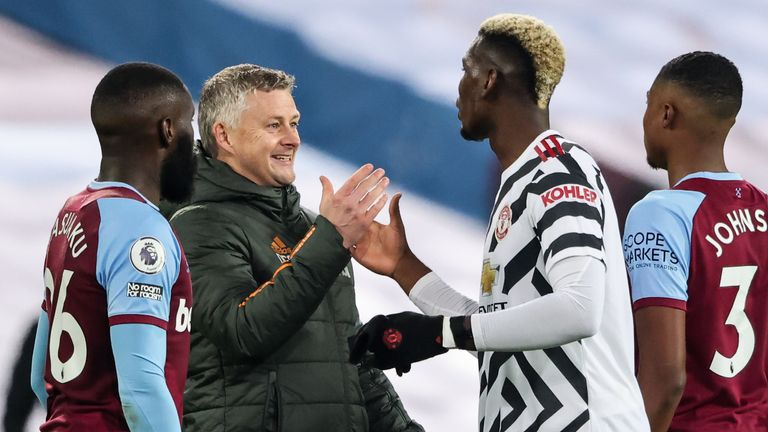Ole Gunnar Solskjaer shares his delight in United's comeback with Pogba