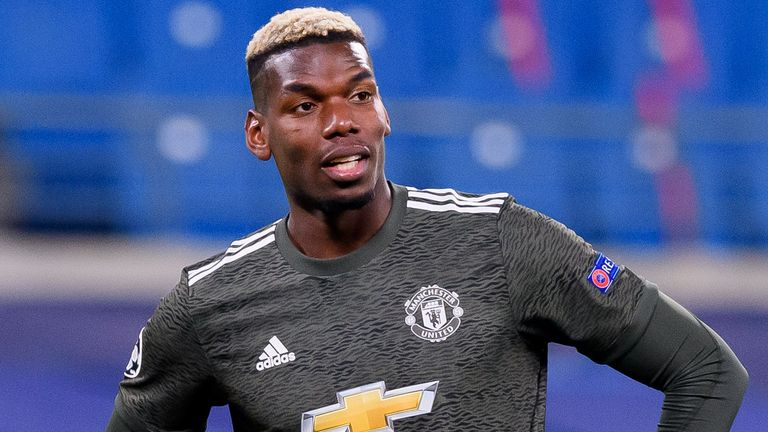 Manchester Unitd midfielder Paul Pogba