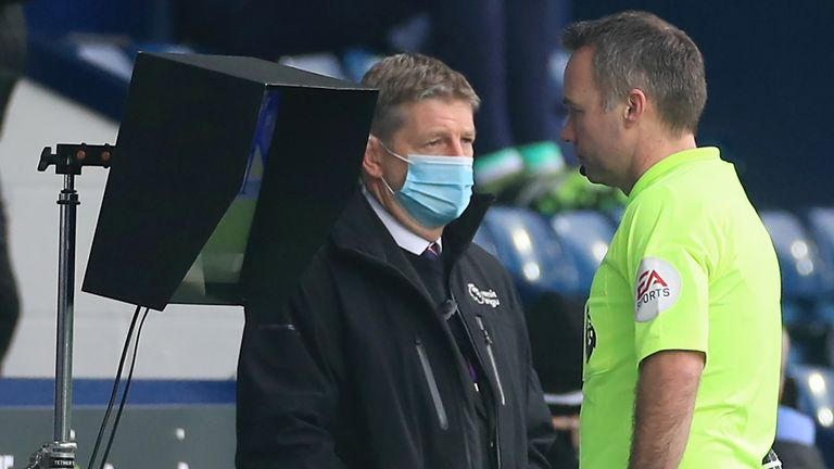 Paul Tierney consulted the pitchside monitor for Mateus Pereira's red card