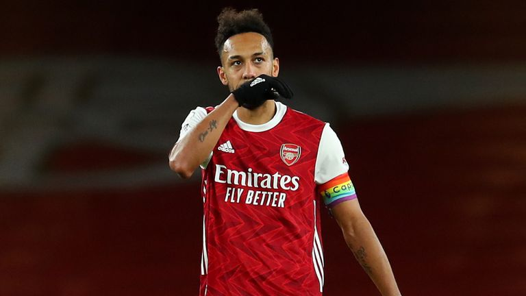 Pierre-Emerick Aubameyang's own goal handed Burnley victory at the Emirates