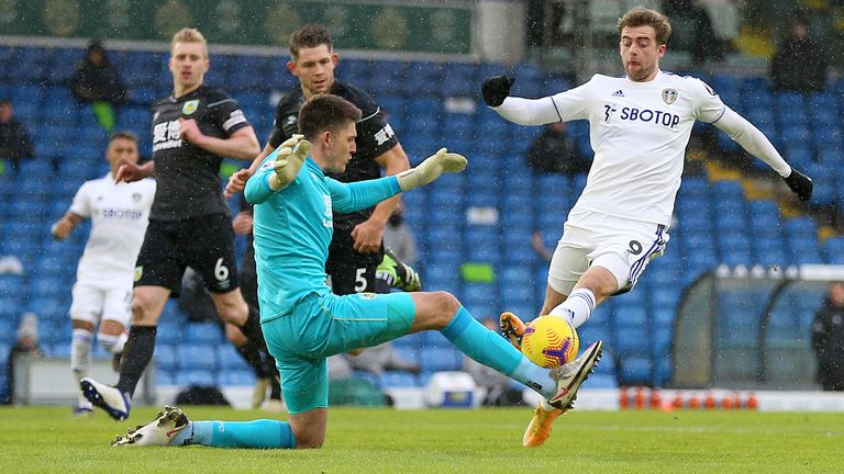 Sean Dyche claims that Nick Pope received the ball more than Patrick Bumford