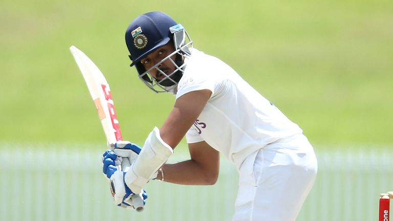 Prithvi Shaw left after scoring just four points in the first test