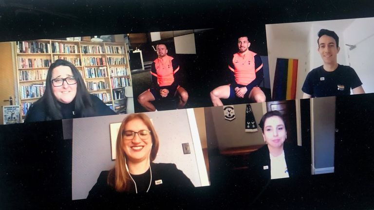 Tottenham Rainbow Laces video call Proud Lilywhites