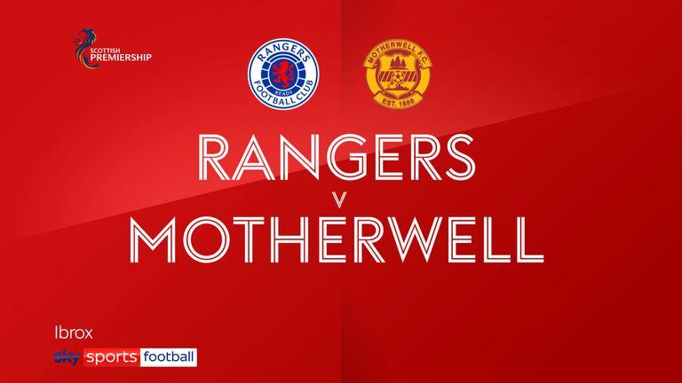 rangers v motherwell badge