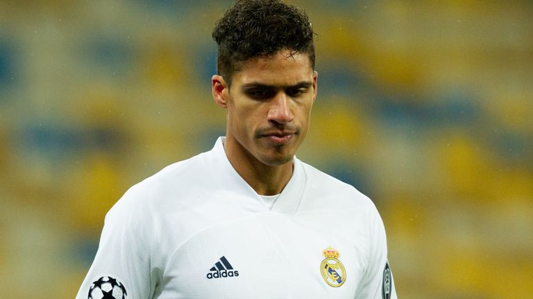 Raphael Varane is dejected during Real Madrid's defeat to Shakhtar Donetsk