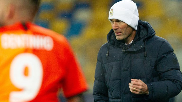 Zinedine Zidane's side have been beaten home and away by Shakhtar Donetsk