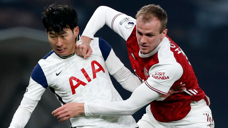 Rob Holding (R) says Arsenal's poor start to the season has been 'frustrating' after defeat at Spurs left them 15th in the table