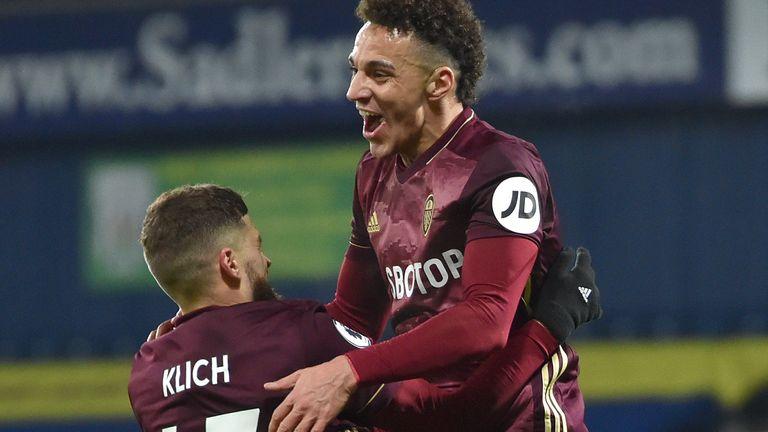 Rodrigo celebrates scoring Leeds' fourth