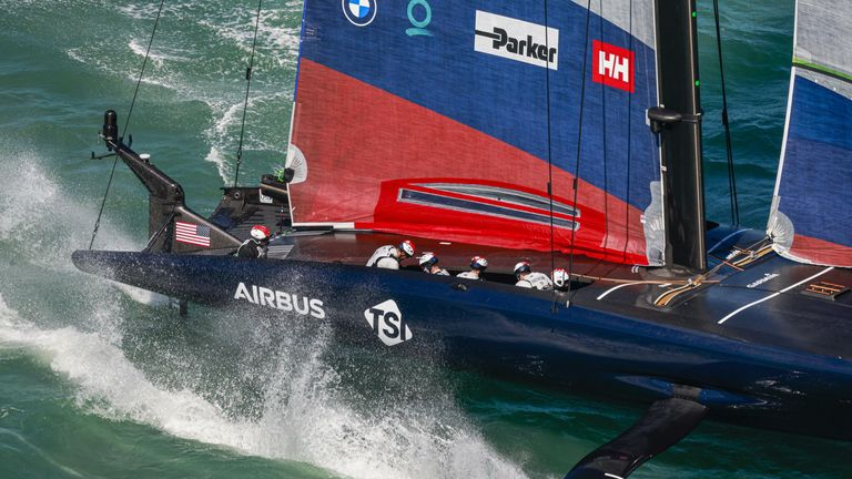 New York Yacht Club American Magic finished the first day at the top of the provisional standings (Image copyright: COR 36 | Studio Borlenghi)