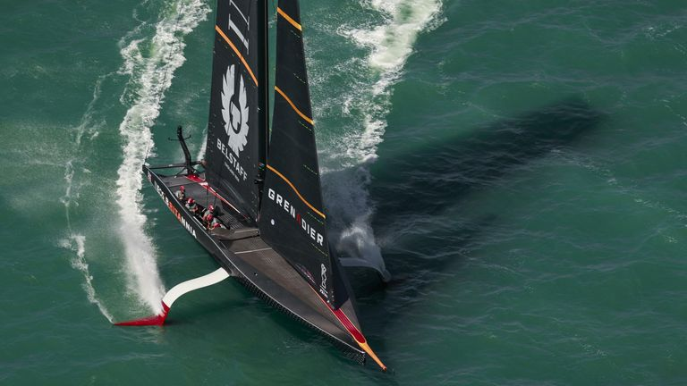It wasn't the first day of racing that INEOS TEAM UK had hoped for in Auckland (Image copyright: COR 36 | Studio Borlenghi)