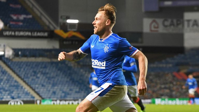 Arfield wheels away in delight after his winning strike on 63 minutes