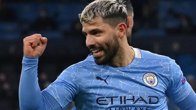 Sergio Aguero has scored nine goals in all competitions against Manchester United since he joined Manchester City in July 2011