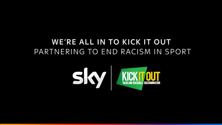 Sky and Kick It Out are partnering to end racism in sport