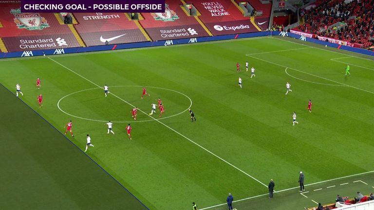 Heung-min Son's equaliser at Anfield was allowed to stand after a marginal VAR onside call