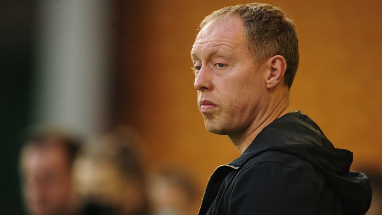 Steve Cooper Head Coach of Swansea City during the Sky Bet Championship match between Norwich City and Swansea City at Carrow Road on November 07, 2020 in Norwich, England. (Photo by Athena Pictures/Getty Images)