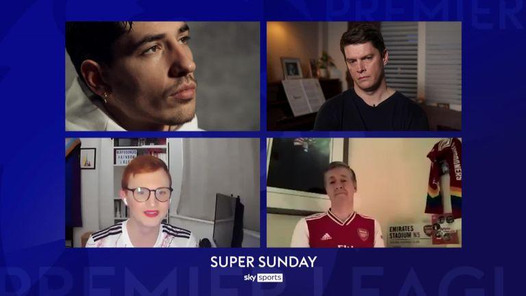 Hector Bellerin, Pat Davison, Joe White, Carl Fearn, Gay Gooners, Arsenal fans chat, Super Sunday Rainbow Laces