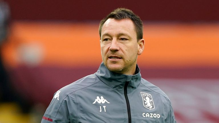 John Terry is considering following former team-mate Frank Lampard by starting his managerial career at Derby