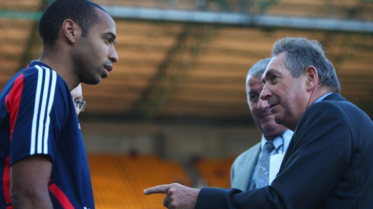 Thierry Henry won the World Cup with France in 1998, a tournament which Gerard Houllier served as an assistant coach