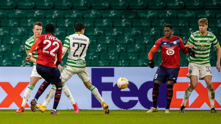 Timothy Weah makes it 2-2  during the UEFA Europa League group stage match